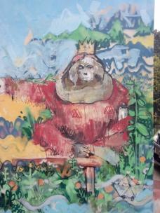 Orangutan - Detalle Mural Barrio Crisol