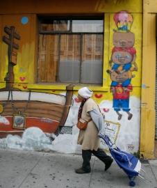 Fragmento mural colectivo - Fundación Liwenko