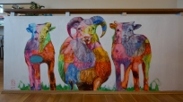 Vibrant Iceland Hostel - Mural - Sheeps