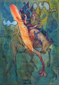 caballo - ban pesk - 2016 - pintura- mixed media - artist - streetartist - horse - surreal