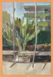 cactus -guache - pintura - loeschbor - guache - pesk